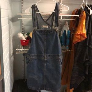 Denim Free People Overall Dress